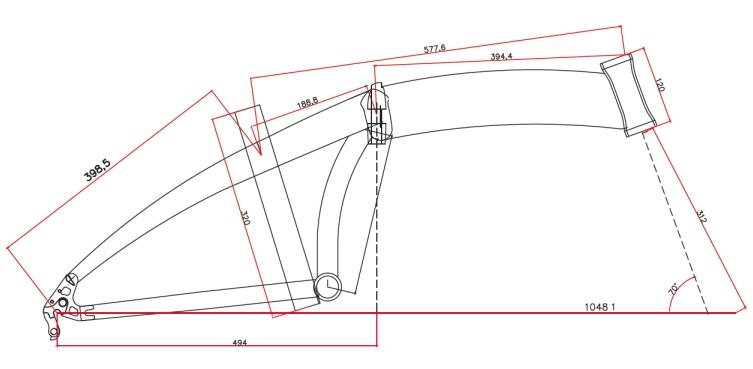 velikost rámu - geometrie LEADER FOX TIFTON barva ŠEDÁ MAT TYRKYSOVÁ