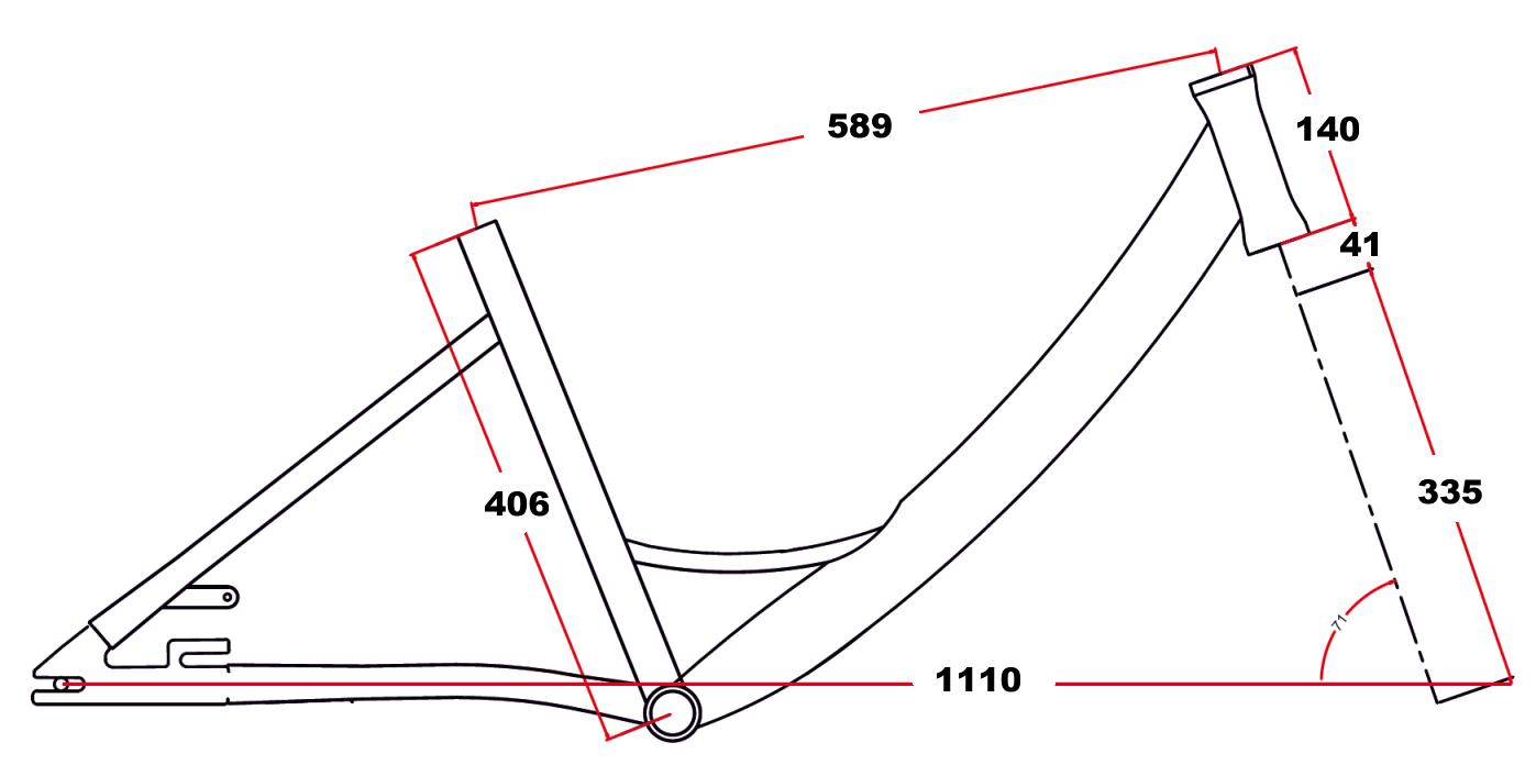velikost rámu - geometrie LEADER FOX elektrotříkolka LOVELO barva ČERNÁ