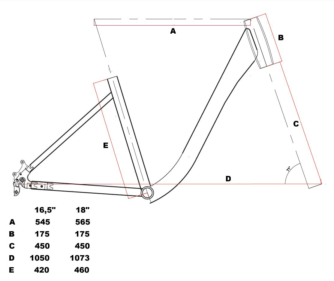 velikost rámu - geometrie Leader Fox LATONA barva ČERVENÁ